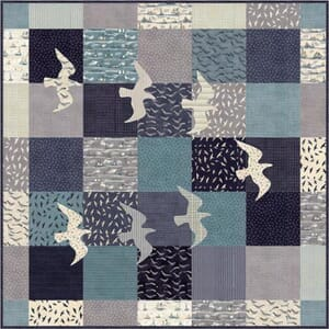 Small Image of Ahoy Me Hearties Great Gulls Quilt Pattern