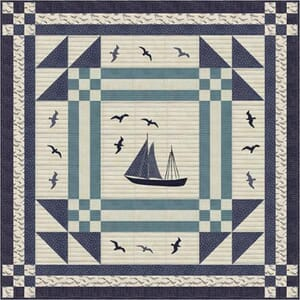 Small Image of Ahoy Me Hearties Sail Away Quilt Pattern