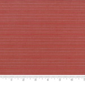 Moda Fabric Snowfall Wovens Stripe Poinsettia Red