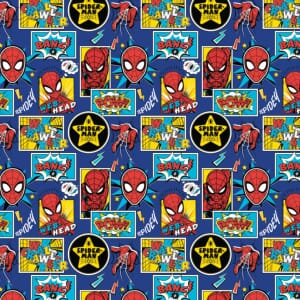 Spiderman Outside the Box Quilting Fabric