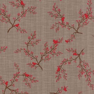 Small Image of Moda Fabric Return To Winters Lane Cardinals Taupe