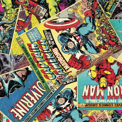 Marvel Comic Book Quilting Fabric - The Sewing Studio
