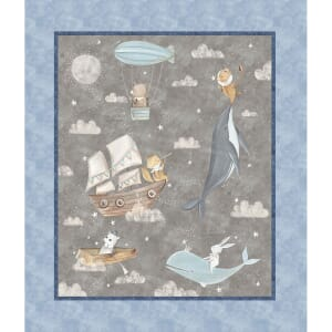 3 Wishes Adventures in the Sky Adis Fabric Panel