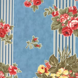Small Image of Moda Fabric Anns Arbor Garden Trellis Blue