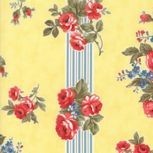 Small Image of Moda Fabric Anns Arbor Garden Trellis Yellow