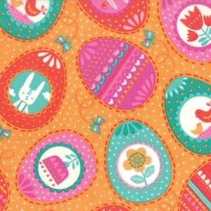 Small Image of Moda Fabric Spring Bunny Fun Eggs Eggs Eggs Apricot
