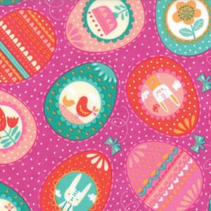 Small Image of Moda Fabric Spring Bunny Fun Eggs Eggs Eggs Petunia