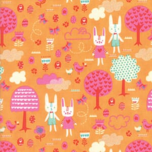 Small Image of Moda Fabric Spring Bunny Fun The Great Hunt Apricot