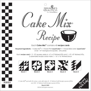 Small Image of Cake Mix Recipe 1 By Miss Rosies Quilt Co
