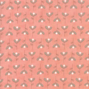 Small Image of Moda Fabric Corner Of 5th And Fun Brushed Cotton Bleeding Hearts Peach
