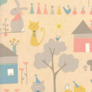 Small Image of Moda Fabric Corner Of 5th And Fun Printed Cotton Play Day Rosie Cheeks