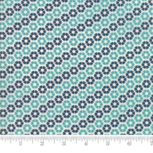 Small Image of Moda Fabric Sunday Supper Table Cloth Teal Blue