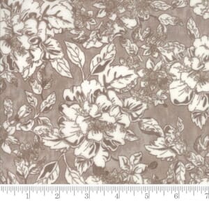 Small Image of Moda Fabric Maven Floral Taupe