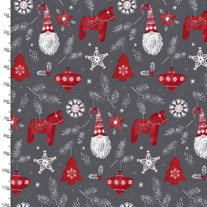 Hanging With My Gnomies Christmas Fabric 18097