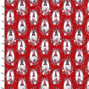 Hanging With My Gnomies Christmas Fabric 18100