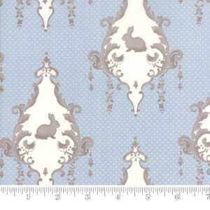 Small Image of Moda Fabric Lily Will Revisited Lily Will Blue