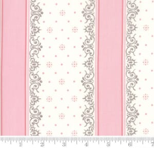 Small Image of Moda Fabric Lily Will Revisited Nighty Night Stripe Pink