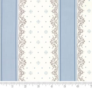 Small Image of Moda Fabric Lily Will Revisited Nighty Night Stripe Blue