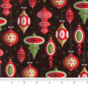 Small Image of Moda Fabric Berry Merry Ornaments Charcoal