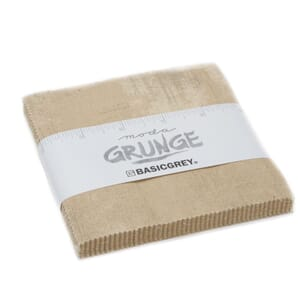 Small Image of Moda Fabric Grunge Charm Pack Tan