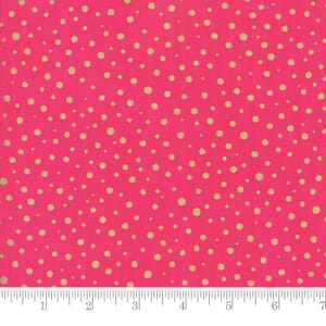 Moda Fabric Modafications Metallic Dots Pink