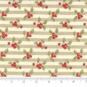 Small Image of Moda Fabric Snowfall Prints Holly Stone