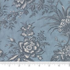 Small Image of Moda Fabric Snowberry Prints Toile Sky