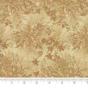 Small Image of Moda Fabric Forever Green Poinsetta Tonal Parchment