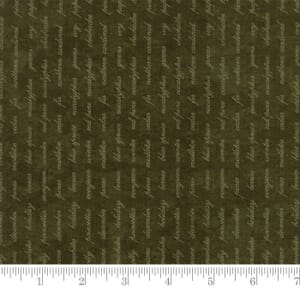 Small Image of Moda Fabric Forever Green Script Pine