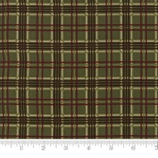 Small Image of Moda Fabric Forever Green Plaid Pin