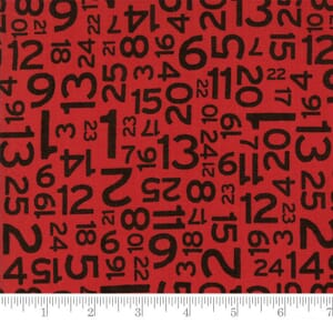 Small Image of Moda Fabric Hometown Christmas Countdown Red