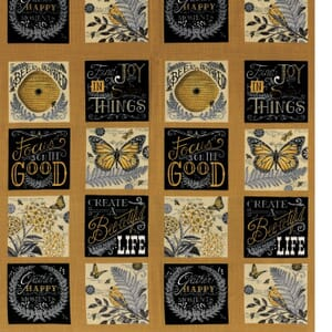 Small Image of Moda Fabric Bee Inspired Nature Blocks Honey Yellow