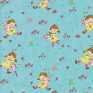 Small Image of Moda Fabric Howdy Gals Best Friend Spray Blue