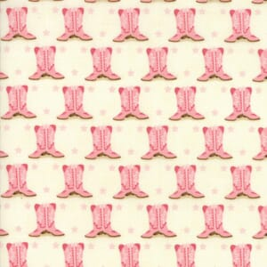 Small Image of Moda Fabric Howdy Boots Porcelain Pink