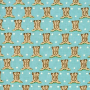 Small Image of Moda Fabric Howdy Boots Spray Blue