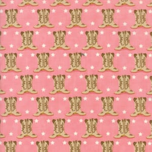 Small Image of Moda Fabric Howdy Boots Pink