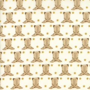 Small Image of Moda Fabric Howdy Boots Porcelain Brown