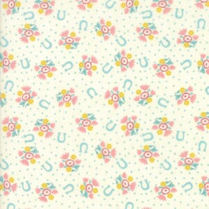 Small Image of Moda Fabric Howdy Horseshoe Dreams Porcelain Pink