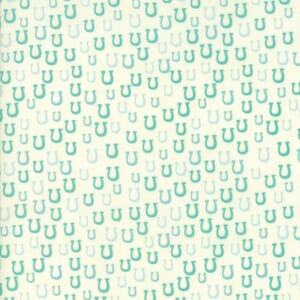 Small Image of Moda Fabric Howdy Horseshoes Porcelain Spray Blue