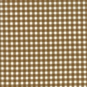 Small Image of Moda Fabric Howdy Gingham Earth Brown