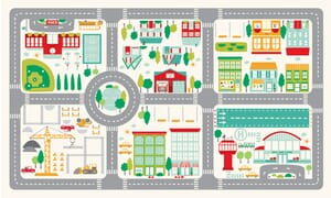 Moda On The Go Canvas Playmat Fabric Panel 36 x 54 Inches