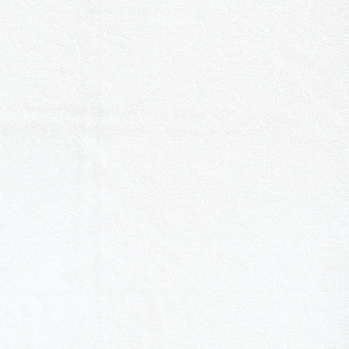 Quilt Backing Fabric 108 Inch Wide Tone on Tone White On Cream Cotton Fabric