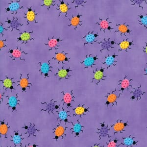 Small Image of Moda Fabric Frolic Dancing Bugs Playful Purple