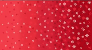 Makower Scandi Christmas 2021 Fabric Ombre Snowflakes Red With Metallic 2248 R4