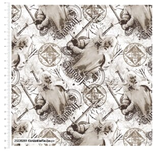 Lord of the Rings Fabric Gandalf Taupe