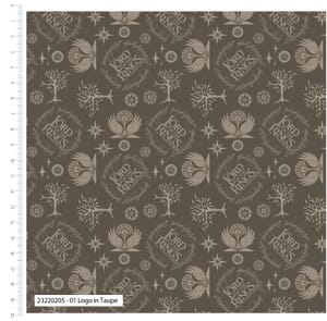 Lord of the Rings Fabric Logo Taupe 23220205 01