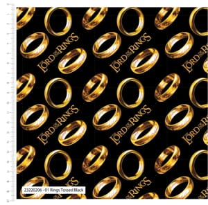 Lord of the Rings Fabric The Ring Black 23220206 01