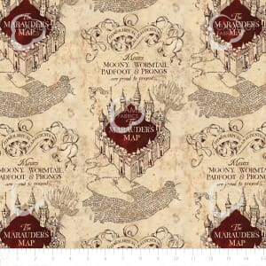 Harry Potter Marauders Map Quilting Fabric