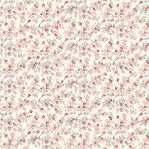 Makower Tranquility Cherry Branch Pink And Cream