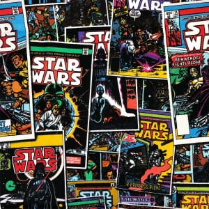 Star Wars Comic Book Quilting Fabric